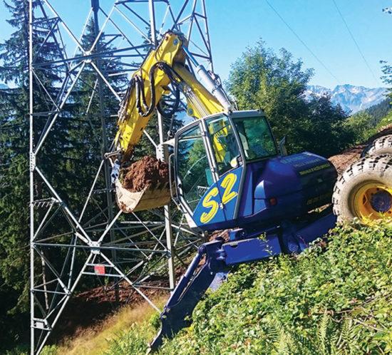 entreprise Duperier TP - Pelle araignée pour prestation terrassement