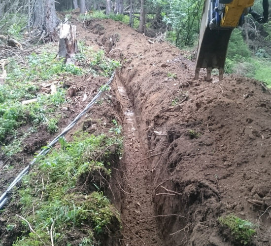 Duperier TP - Pelle araignée en Savoie - tranchées et réseaux avec accès difficile
